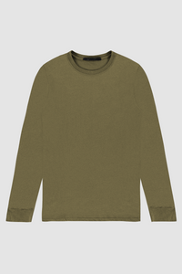 LONG SLEEVE CREW / OLIVE