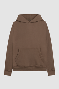 PULL OVER HOODIE / ASH BROWN