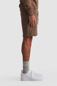SWEATSHORTS / ASH BROWN