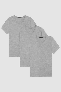 U NECK 3-PACK / TRI-BLEND GREY