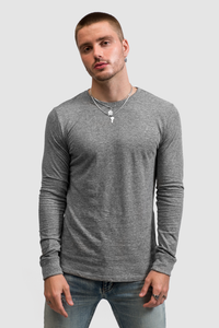 LONG SLEEVE CREW / TRI-BLEND GREY