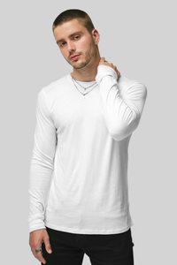 LONG SLEEVE CREW / WHITE