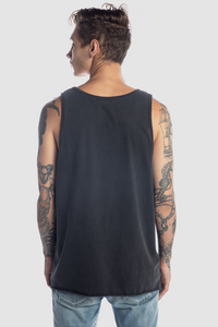 RAW HEM VINTAGE TANK / WASHED BLACK