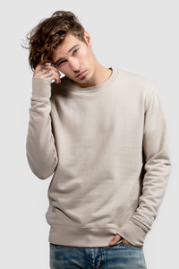 CREW NECK SWEATSHIRT / SAND