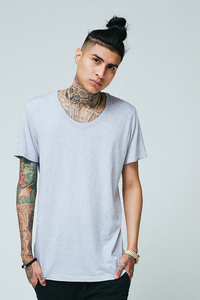 U NECK / HEATHER GREY