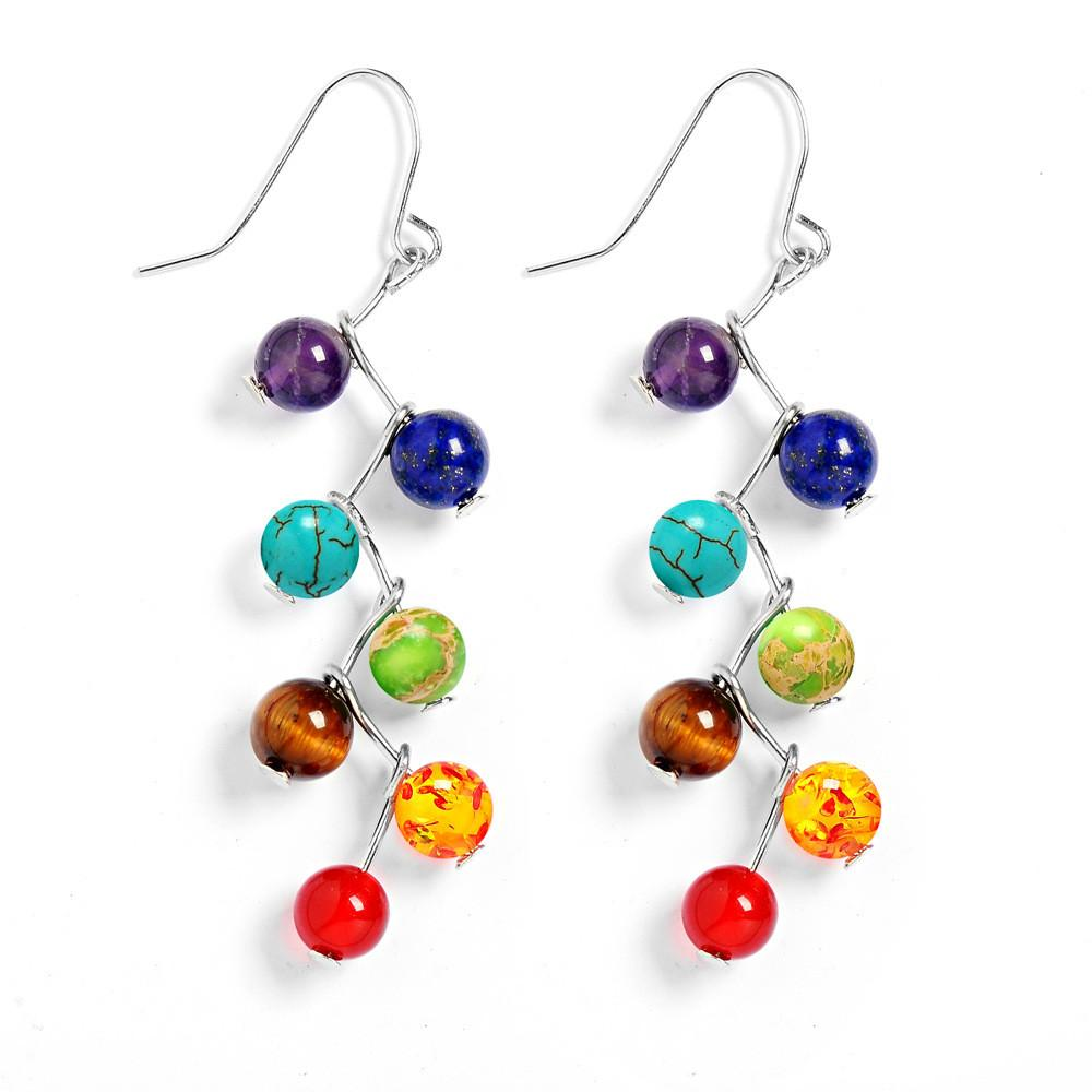 beads energy women dangle new buddha chakra drop fashion backpack arrival charm colorful stone natural earrings for products