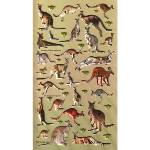 3DF-A-KANGA-R - Tim The Toyman Australian Kangaroo 3D Foam Stickers