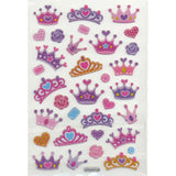 3DF-CROWNS-R - Tim The Toyman Glittery 3D Crown Stickers