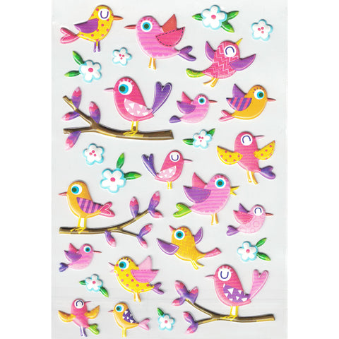 3DF-FUNBIRDS_2-R - Tim The Toyman 3D Foam Fun Birds Stickers