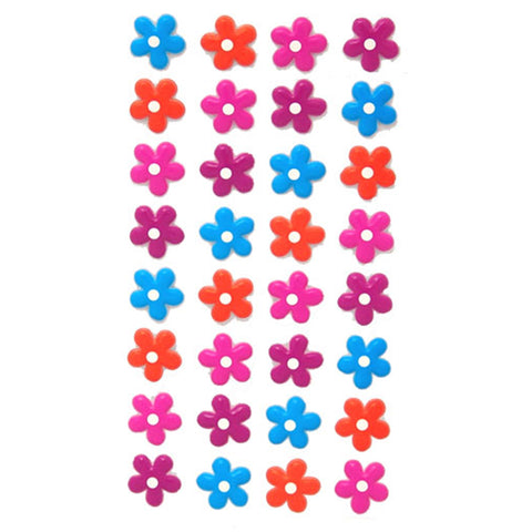 3DF-FUNFLOW-R - Tim The Toyman 3D Fun Flower Stickers