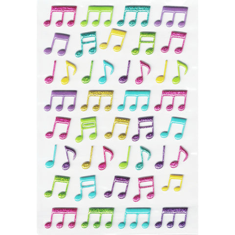 3DF-GMUSIC-R - Tim The Toyman Glittery 3D Foam Music Stickers