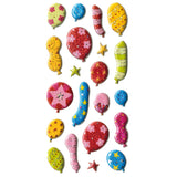 3DF-MBALLBR-R - Tim The Toyman 3D Metallic Party Balloon Stickers