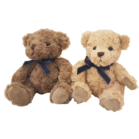 GNT31R -20cm Sitting Bear with Ribbon