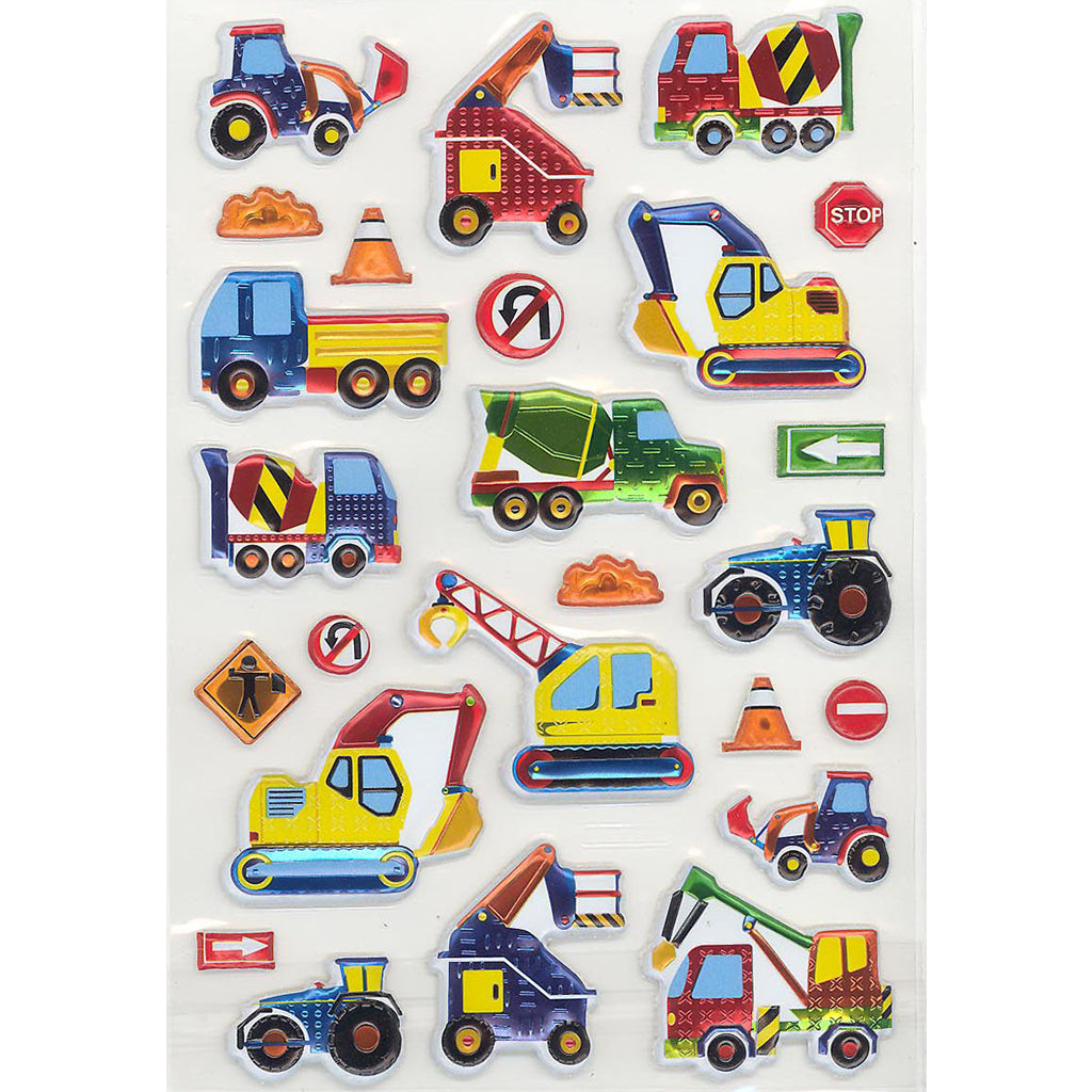 LKCONSTRUCT-R - Tim The Toyman Construction Stickers