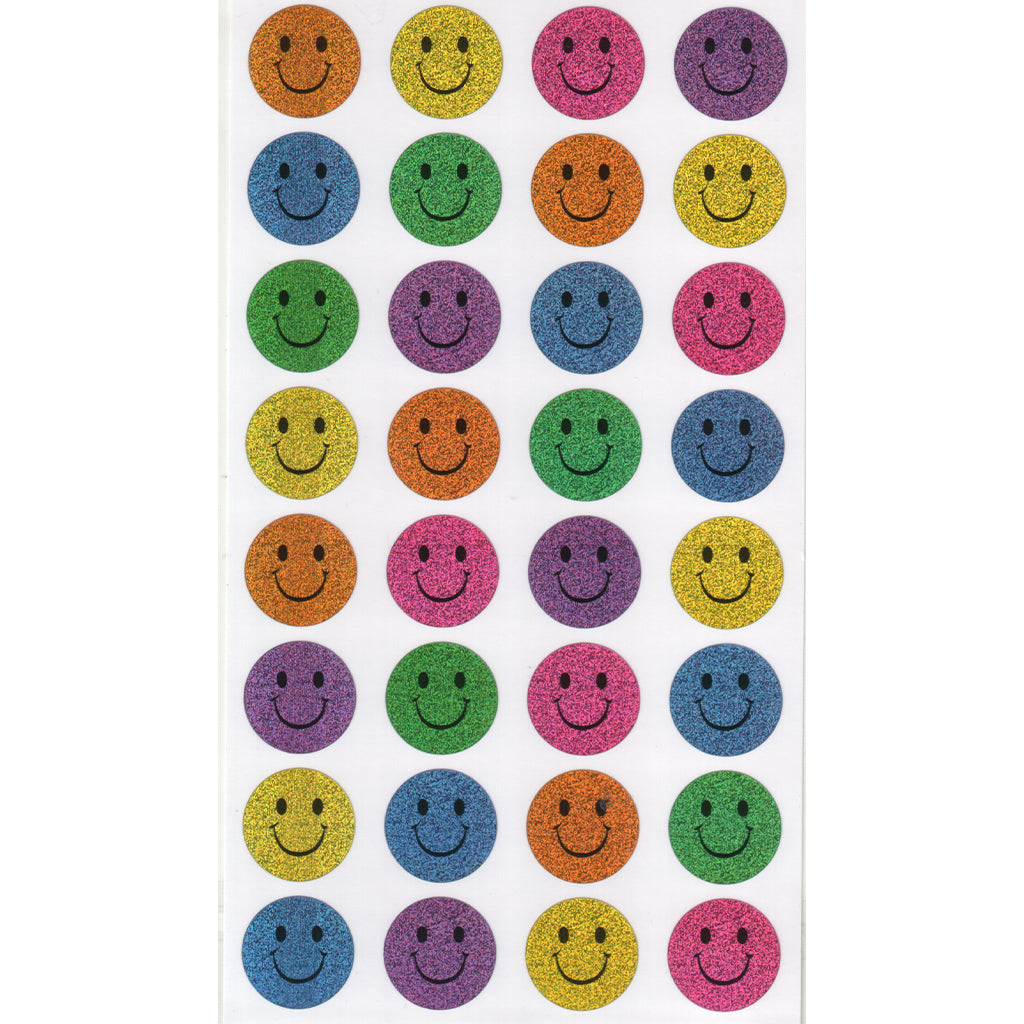 LKSMILEY-R - Tim The Toyman Smiley Stickers