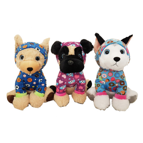 ND71-R - 23cm Pyjama Dog