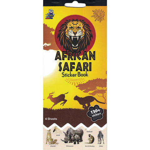 SSBK-AFRICAN ANIMAL-R - Tim The Toyman African Safari Sticker Book