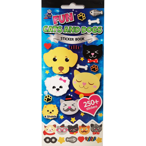 SSBK-CATS & DOGS-R - Tim The Toyman Fun Cats and Dogs Sticker Book