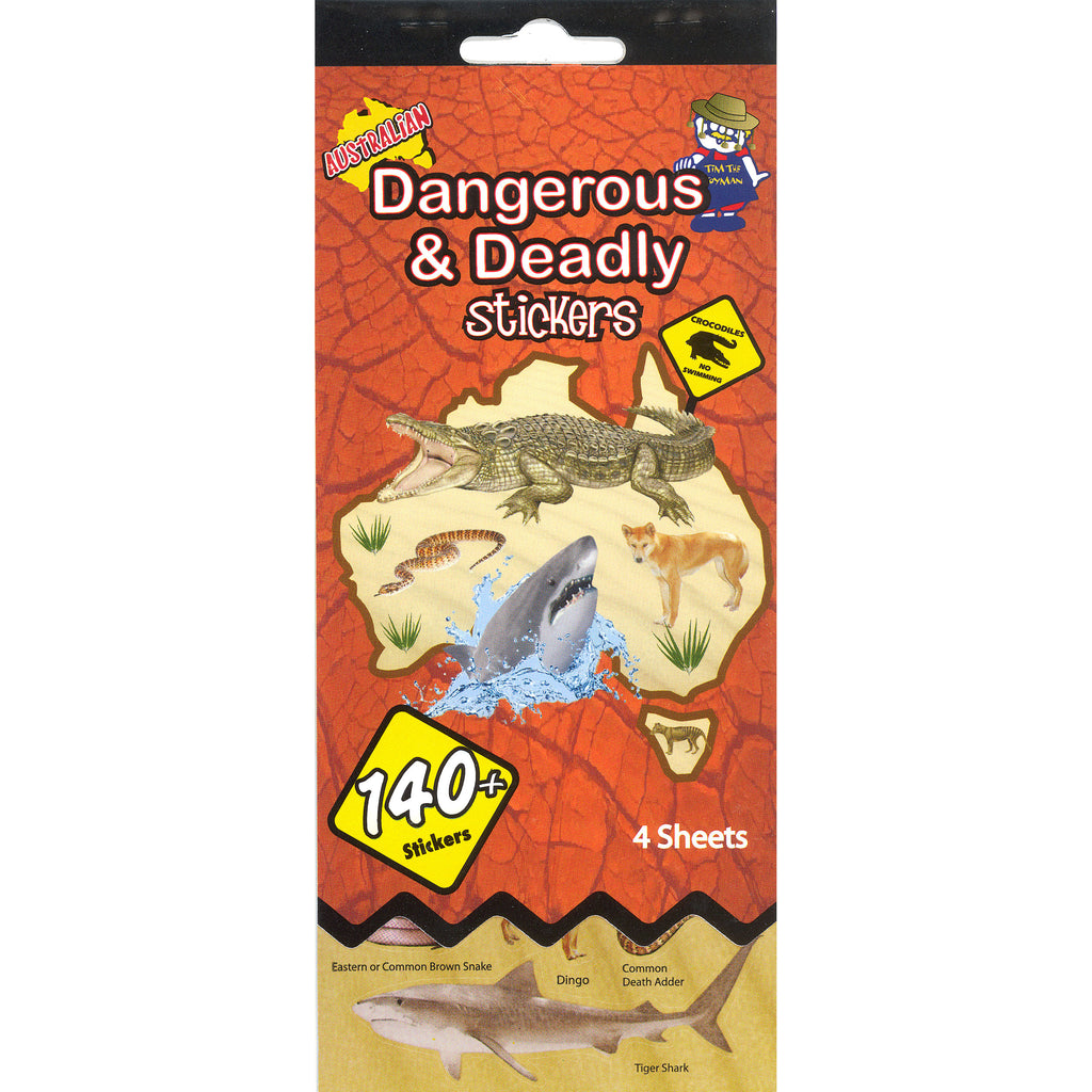 SSBK-DEADLY-R - Tim The Toyman Australian Deadly and Dangerous Animal Sticker Book