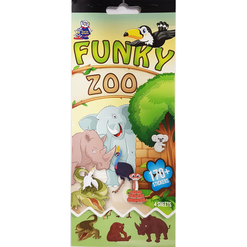 SSBK-FUNKY ZOO-R - Tim The Toyman Funky Zoo Sticker Book
