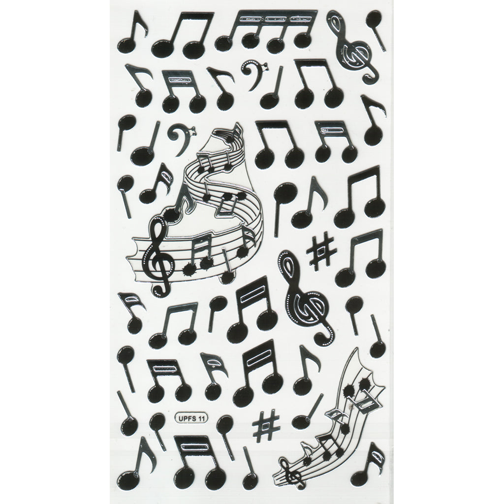 UPFS11-R - Tim The Toyman Musical Notes Stickers