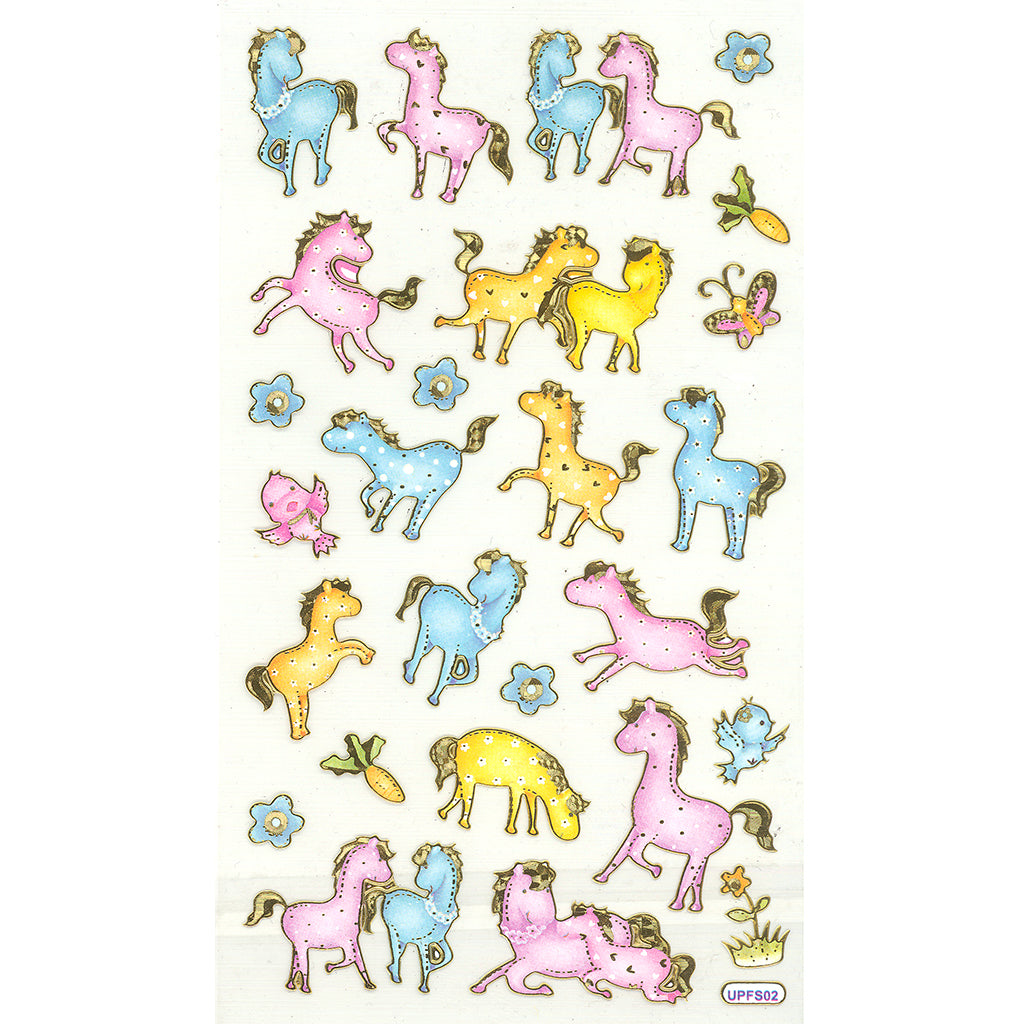 UPFS02-R - Tim The Toyman Unicorn Stickers