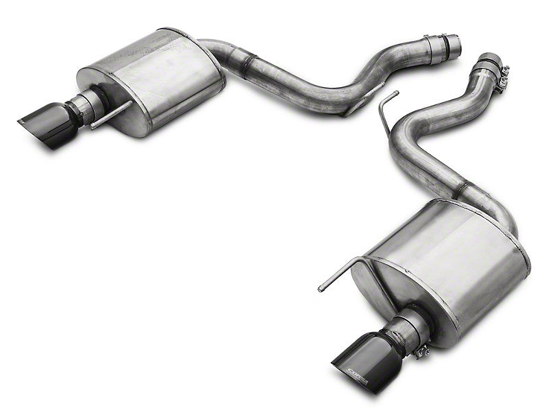 Corsa Touring Axle-Back Exhaust - Black Tips (15+ GT)