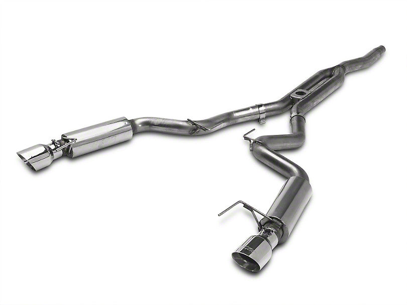 MBRP Race Cat-Back Exhaust - Aluminized Steel (15-17 EcoBoost)