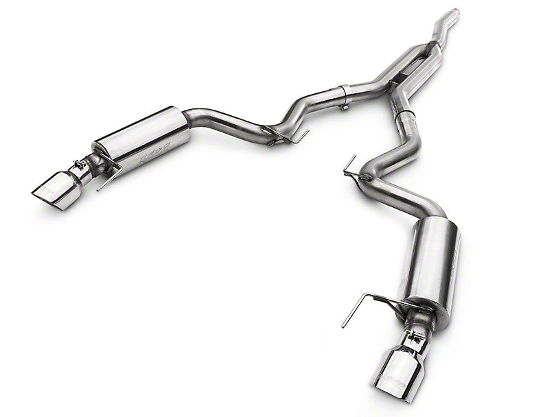 MBRP Street Cat-Back Exhaust - Stainless Steel (15-17 EcoBoost)