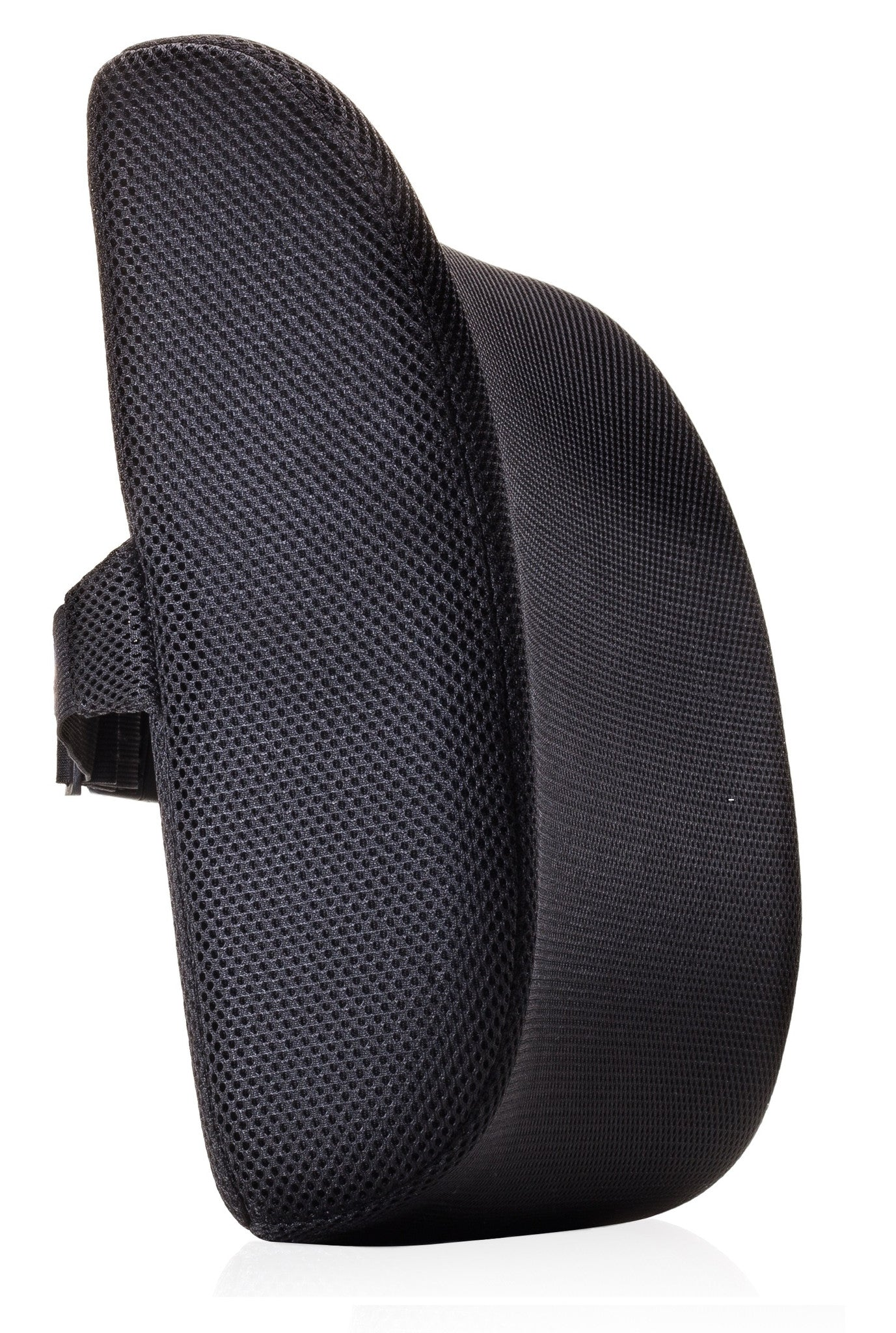 Premium Lumbar Support Back Pillow Cushion by MemorySoft (Black)