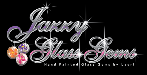 Jazzy Glass Gems - Original Hand Painted Glass Gems by Lauri; Party favors, decoration, table scatter, memento, wedding, holiday, arts & crafts, mosaic, etc.!