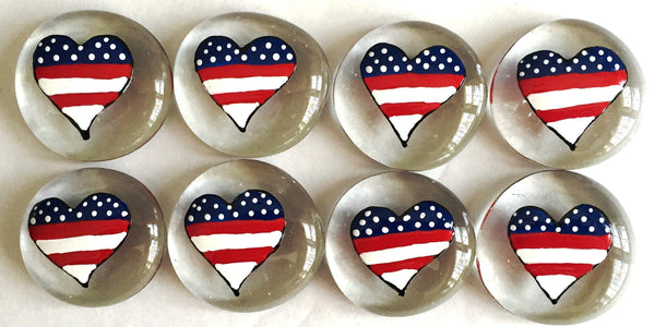 Hearts - American Flag (Large)