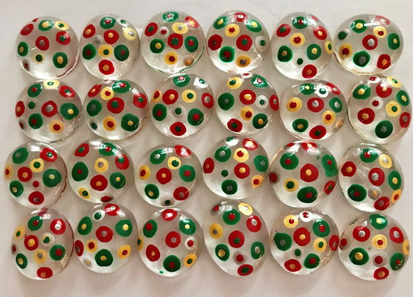 POLKA DOTS (Christmas) Red, Green, Silver & Gold