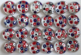 POLKA DOTS - Red, White & Blue