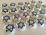 STAR OF DAVID on WHITE