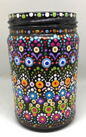 Dotted Multi-Colored Jar