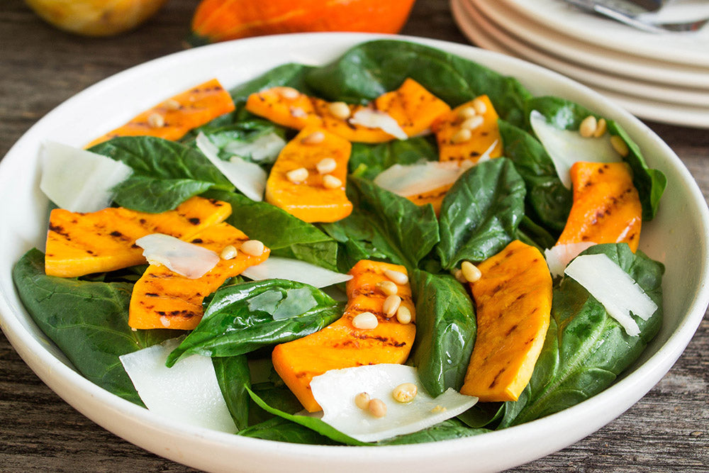 Pumpkin-salad-with-bacon-seasoning
