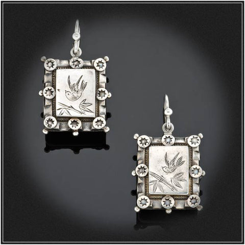 ANTIQUE STERLING SILVER EARRINGS