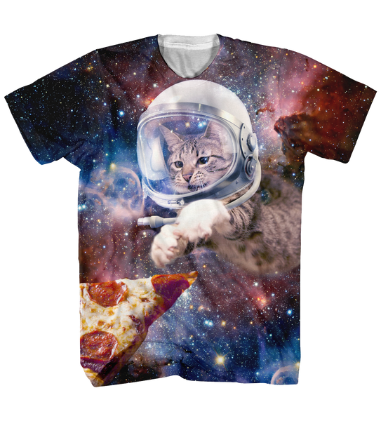Pizza Cat in Space tee