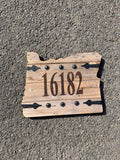 Barndoor State Signs - Letter/Number/Name/Address Burn