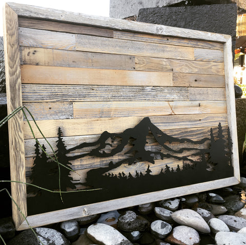 Framed Barnwall - Steel MT Hood