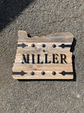 Barndoor State Signs - Steel Letter/Initials/Name/Address