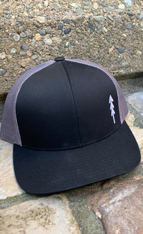 Tree Logo Snap Back Hat - Grey and Black