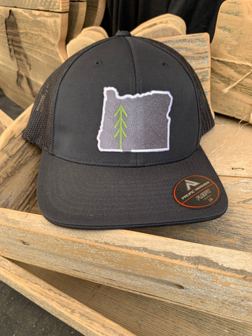 Oregon Patch Tree Logo FITTED - Black