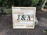 Framed Barnwall - Steel Letter/Initials/Name/Address