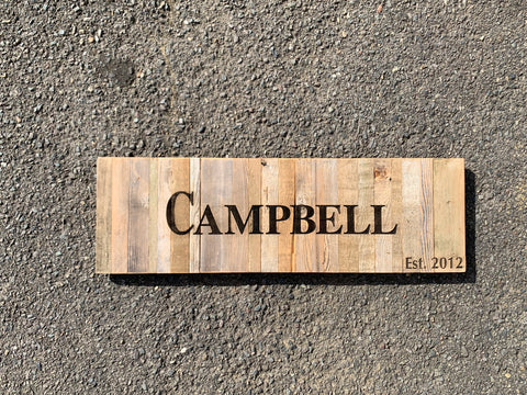Reclaimed Wood Pallets - Letter/Number/Address/Name Burns