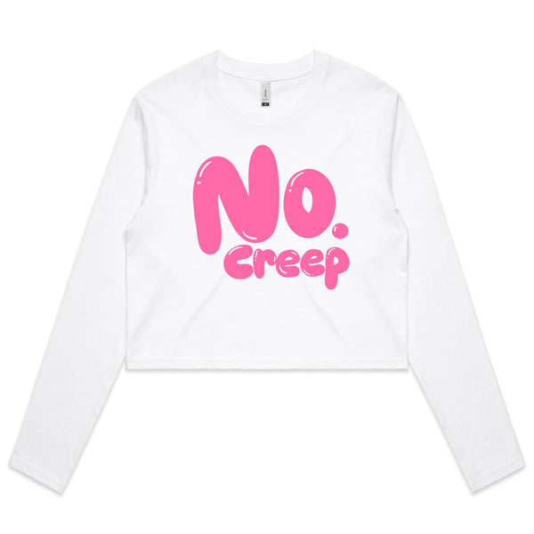 Creep Long Sleeve Crop Top
