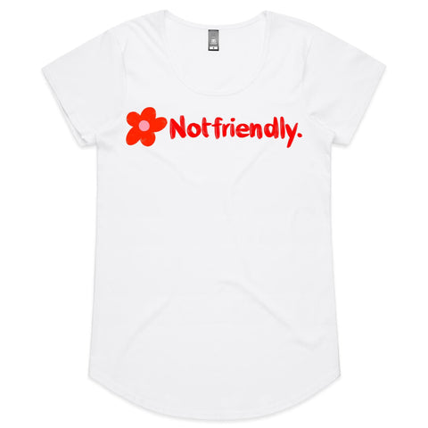 Not Friendly Womens Scoop Neck Tee ( Sizes 14- 18)