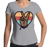 Rainbow Peace Womens Scoop Neck T-Shirt Sizes 8-18