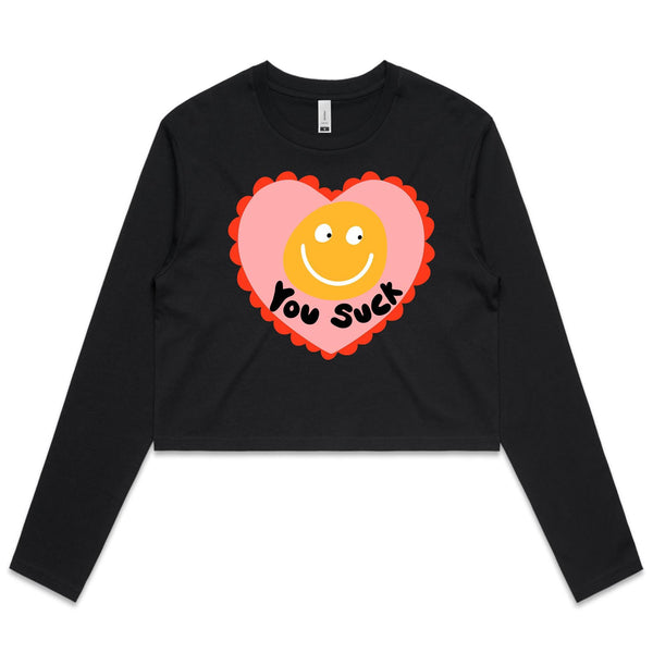 You Suck Long sleeve crop top